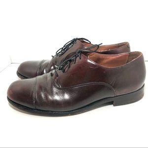 Bostonian Classic Brown Leather Oxfords Sz 12W